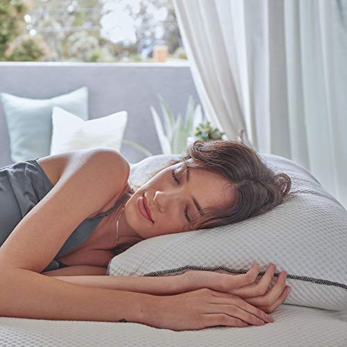 Brentwood Home Ojai Luxury Shredded Cooling Gel Memory Foam Pillow, Adjustable for Better Sleep, Non-Toxic, Made in California, Queen Size
