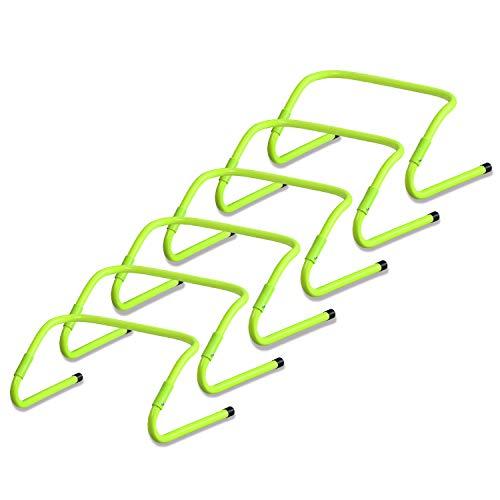 LARS360 Speed/Agility Hürden Multi-Sport Fußball Trainingshilfe für Training (6er-Set) Verstellbar 20/30cm Beweglichkeits Koordinationshürden Koordinationstraining für Kinder, Athlet
