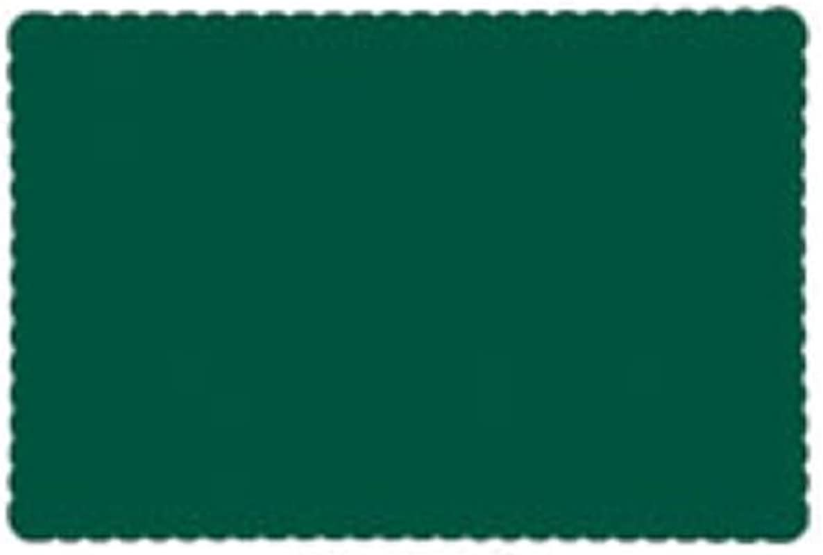 AEP Lapaco 314 201 10 X 14 Hunter Green Paper Placemat 1000 CS