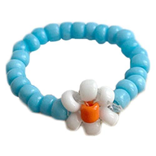 DALIN - Anillo elástico para mujer, color caramelo, diseño floral