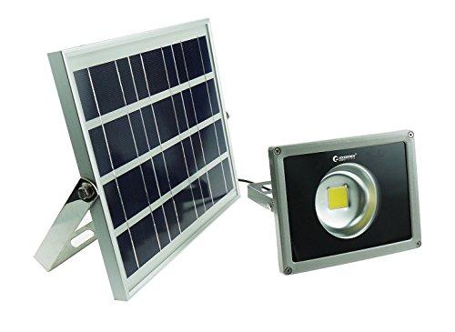 実用新案登録 GOODGOODS COB LED ソーラーライト 屋外 防水 20W センサーライト 充電式 電池交換対応式 光センサー付き 【一年保証】 TYH-20C