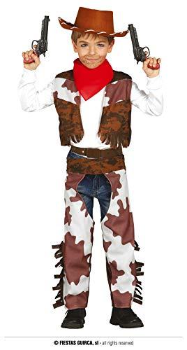 Guirca Costume Cowboy per Bambini, 5-6 Anni, 85684