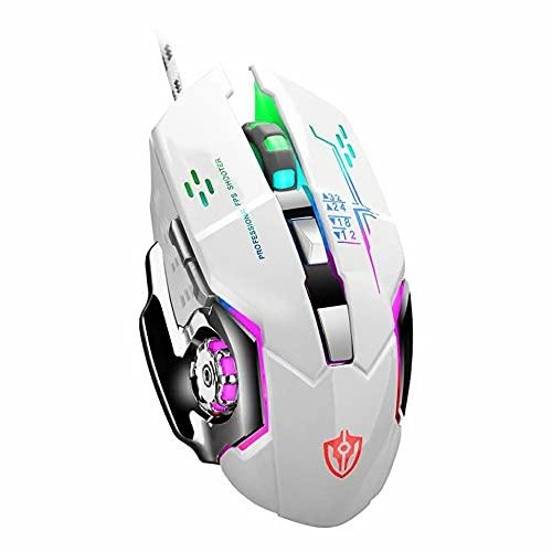 ASFD Ratón para Juegos con Cable USB, ratón Macro para Comer Pollo, ratón para computadora de Escritorio, Ordenador portátil, ratón para Juegos