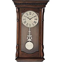 Howard Miller Agatha Wall Clock 625-578 – Acadia Finish with Quartz, Triple-Chime Movement