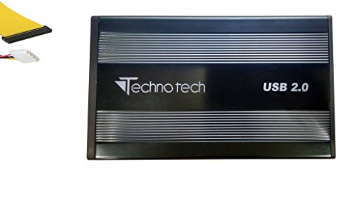 Technotech 3.5 Inch External IDE Hard Drive Enclosure Casing USB 2.0 for...