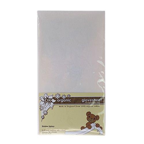 DK - Sábana Bajera Ajustable para Stokke Xplory (Blanco orgánico)