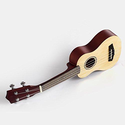 LINGZHIGAN 27-Zoll-Logs Anfänger Ukulele Hawaii Kleine Viersaitige Gitarre