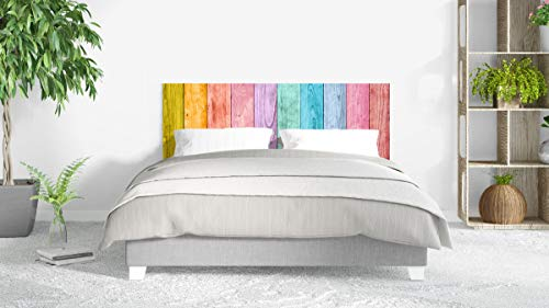 Cabecero Cama PVC Impresión Digital sin Relieve Madera de Colores 135 x 60 cm | Disponible en Varias Medidas | Cabecero Ligero, Elegante, Resistente y Económico