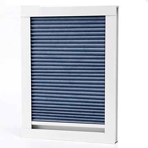ZAQI Estor Plisado Persiana Plisadas Celular Shades Blackout, Modern Blue Lightweight Top Down Bottom Up Blinds, Greenhouse Sun Room Skylight, 60/80/100/120 cm de Ancho (Size : 100×150cm/39.4×59in)