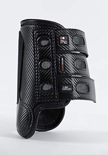 Premier Equine Carbon Tech Air Cooled Eventing Boots Gelände-Gamaschen Gamaschen Paar vorne (M, Black)