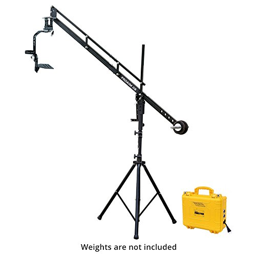 PROAIM 9ft Camera Crane Portable Jib, Jr. Pan Tilt Head, Tripod Stand P-9-JS-JRPP for DSLR Video Cameras up to 8kg/17.6lbs   Best Travel-Friendly Jib with Carrying Bag