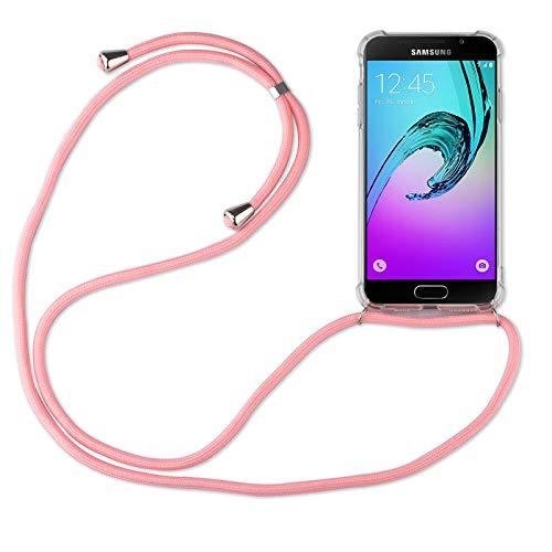 betterfon | Samsung Galaxy A3 2016 Handykette Smartphone Halskette Hülle mit Band - Schnur mit Case zum umhängen Handyhülle mit Kordel zum Umhängen für Samsung Galaxy A3 2016 SM-A310 Rosa