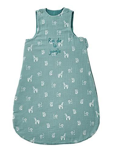 Vertbaudet Bio Collection: Saco de dormir de verano para bebé, diseño del rey de la jungla. Estampado de jirafas Verde 107 cm