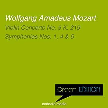 Green Edition - Mozart: Violin Concerto No. 5 K. 219 & Symphonies Nos. 1, 4, 5