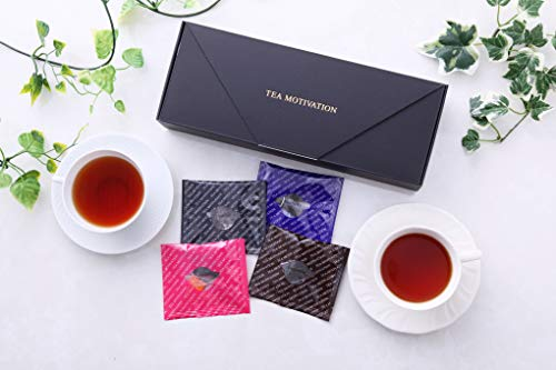【ギフト包装済】紅茶ギフト Bセット/ダージリン/アッサム/ももりんご ティーバッグ11包×3箱計33包 最高級品質 TEA MOTIVATION