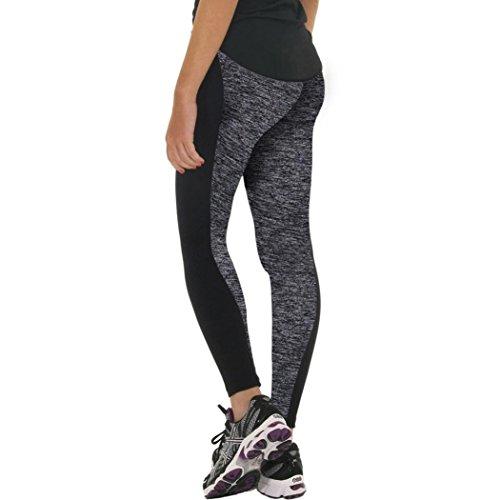 Tootu Women S-XXXL Plus Size Sports Trousers Athletic Gym Fitness Yoga Leggings Pants (XXL, Gray)