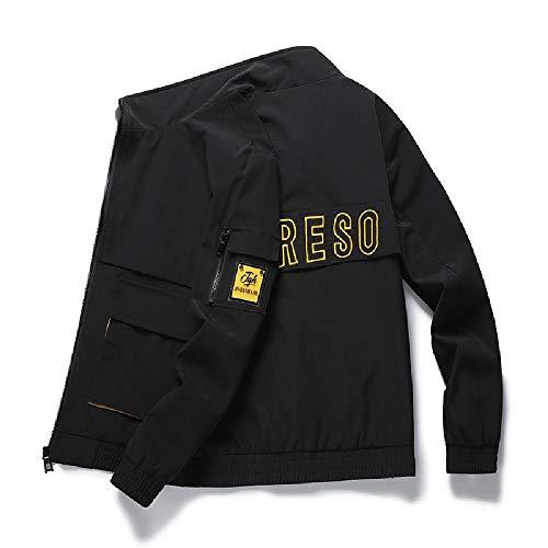 SKJJ Outdoor-Kleidung für Männer, modisch, koreanisch, Herbst Gr. XXXL, Schwarz