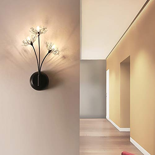 De enige goede kwaliteit Decoratie Moderne Minimalistische Wandlamp Nordic Goud Zwart Slaapkamer Nachtlampje Woonkamer Wandlamp Kinderkamer TV Achtergrond Muur Crystal Wandlamp 20x45cm Villa