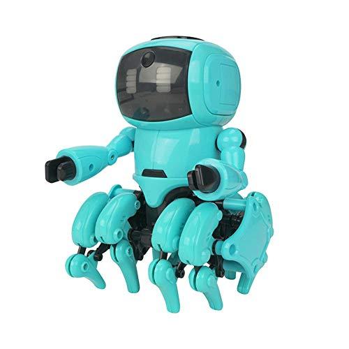 Robot Interesante 8 Patas del Robot Inteligente RC Gesto De Detección por Infrarrojos Después De Evitación De Obstáculos Montado Robot De Juguete Animación Infantil
