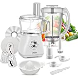 KTMAII Compact Food Processor Blender Combo, 5 Cup Bowl, Dough Blade, Mashing Blades, Slicing and...