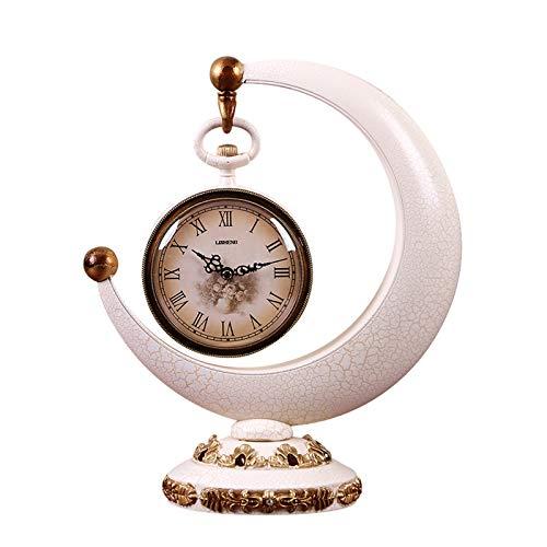 Reloj decorativo Tabla Reloj - Estilo europeo Mesa Reloj de Moda Reloj Creativo Sala de Vino Armario de vino Decoración Adornos Relojes Inicio Silencio Cuarzo Reloj de cuarzo Estilo elegante clásico