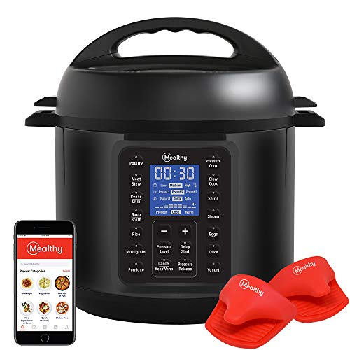 Mealthy MultiPot 9-in-1 Programmable Pressure Cooker with Stainless Steel Pot, Steamer Basket, Full Accessory Kit & Recipe App. Pressure Cook,...