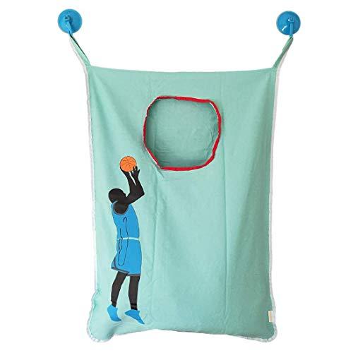 HAMRAY - Cesta para Colgar Ropa Sucia con diseño de Baloncesto para Tirar, Gancho para Puerta, Ropa Sucia usada en el Armario de baño o Dormitorio