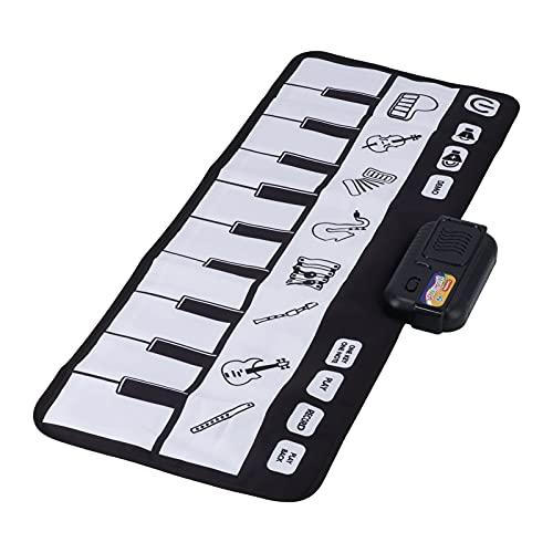 Jiawu Klaviertastaturmatte, Musikmatte Einzigartig Interessantes Volumen Einstellbar Musikinstrument Muster Faltbar Tragbar Für Geburtstagsfeier Für Zuhause Für Kind