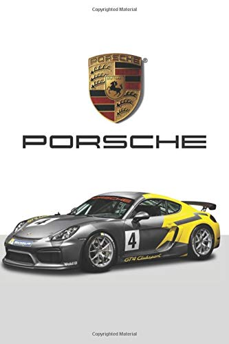 Porsche: Cars Notebook, Journal, Diary, Drawing and Writing,   Creative Writing, Poetry (110 Pages, Blank, 6 x 9)