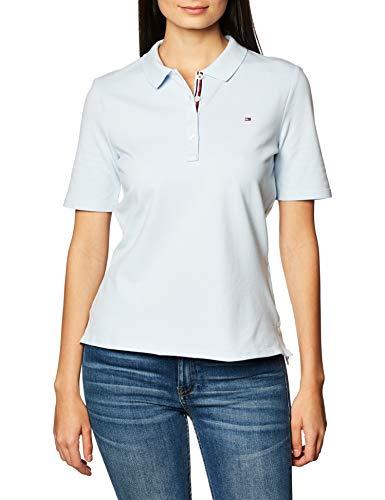 Tommy Hilfiger TH Essential REG Polo SS Camiseta sin Mangas para bebés y niños pequeños, Blue, XXL para Mujer