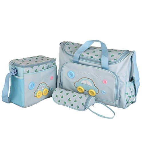 Generic 4PZ bébé Sac du pannolin change du enfant multifonctionnel sac à langer momie Blu chairo