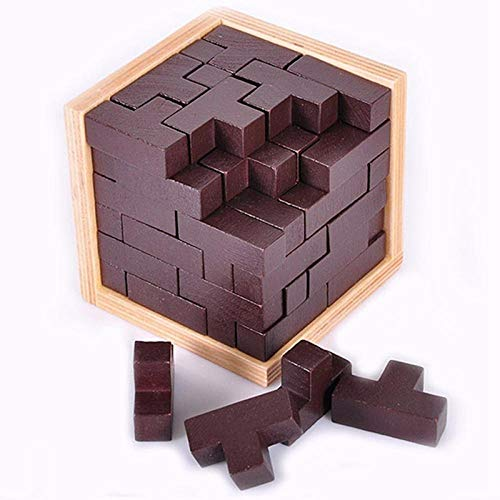 54T puzzel 3D puzzel houten speelgoed kinderen IQ breinbrekers glitches IQ kinderen volwassen speelgoed