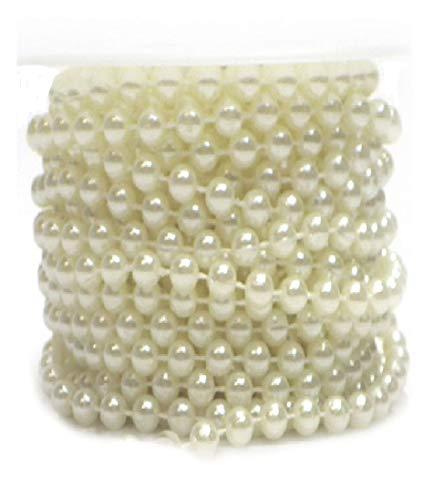 10m Deko Perlenkette weiß mit großen /& kleinen Perlen aus Kunststoff 1m=0,70€