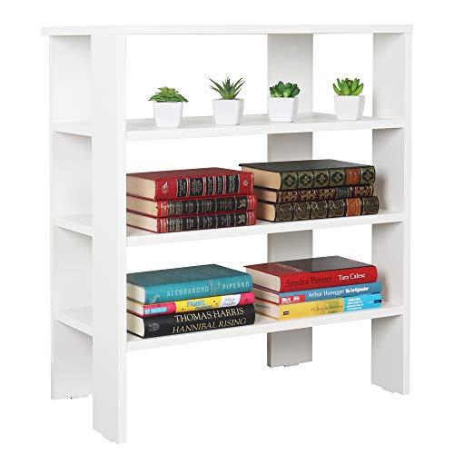 RICOO WM039-WM Estantería 70 x 60 x 32 cm Estante pequeño Librería Moderna Biblioteca Muebles de hogar Mueble almacenaje Madera Color Blanco Mate