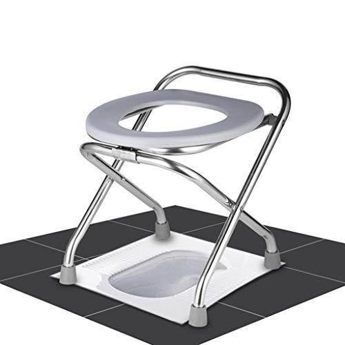 Faltbare Kommode Stuhl/Duschstuhl-Nachtkommode Stuhl Mit Fass Geeignet FüR äLtere Menschen, Schwangere, Patienten, Tragen Starke Und Stabile rutschfeste, Sicher