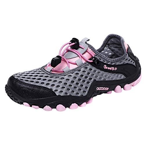 Kolylong® Damen Wasserdicht Trekking-& Wasserschuhe,Freizeit Frau Outder Trekking Schuhe Sneaker Lauf Gehen Mesh Aquaschuhe Wanderhalbschuhe 36-42