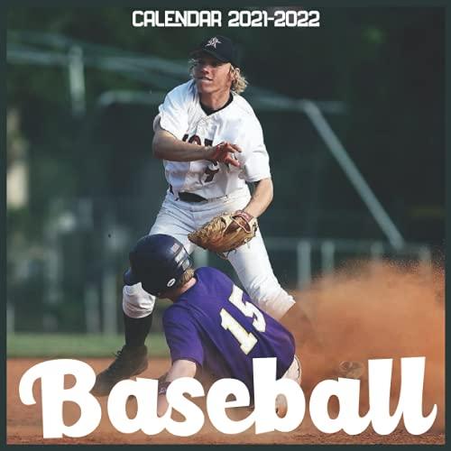 Baseball Calendar 2021-2022: April 2021 Through December 2022 Square Photo Book Monthly Planner Baseball small calendar