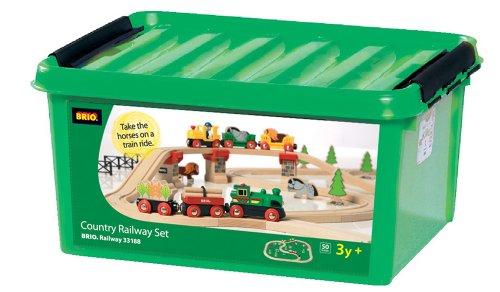Brio 33188 - Großes Country Bahn-Set mit 50 Teilen