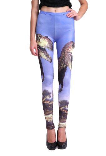 Bluesea- Women's Pattern Ankle Length Footless Leggings-Muticolor Design