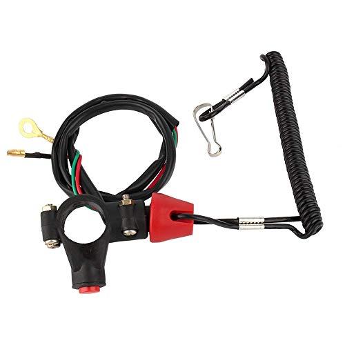 Cordón del interruptor de parada del motor - Cordón del cable del motor Interruptor de parada de emergencia Correa de seguridad 12V CO para motor ATV Barco