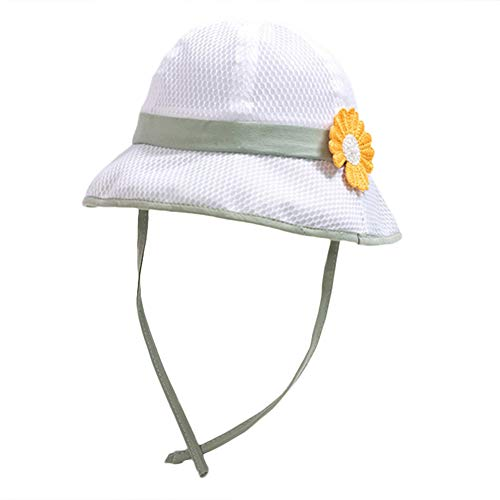 Cherry Cronin Chrysanthemum Patroon Fisherman hoed Baby Volledige net Ademende Kinderen Zonnebrandcrème hoed met Touw Olv (stad)