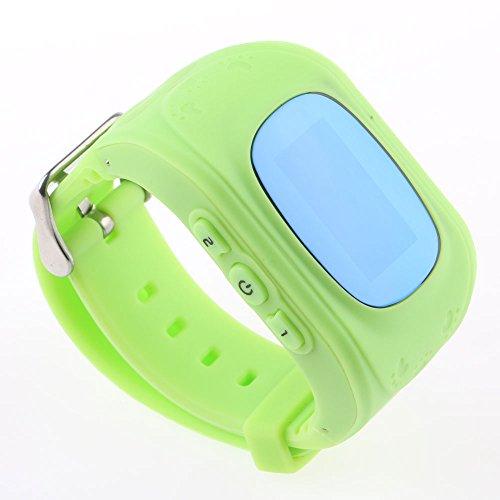 HuntGold Anti-Lost Smart Watch GPRS Tracker Monitor de alarma de seguridad SOS para niño Niño de mascotas - Verde