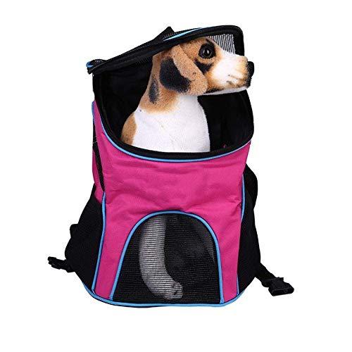 Palm kloset caseta perro Bolsa de mascotas para mascotas, bolsa de asas, mochila de pecho de mascota plegable con hebilla retráctil con malla transpirable para dejar que las mascotas transpiren salgan