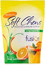 Bariatric Fusion Bariatric Probiotic Soft Chews with 10 Billion Live Organisms to Support Digestive & Immune Health, Orange Tropical Flavor, Chewy Bariatric Vitamin, 60 Count