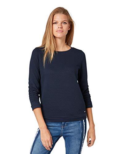TOM TAILOR DENIM Strick & Sweatshirts Pullover mit Strukturmuster Sky Captain Blue, S