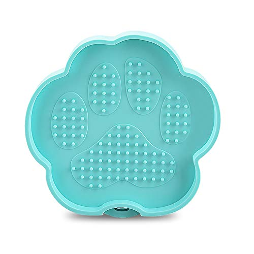BonFook Lick Mat for Dogs, Silicone Shower Dog Lick Mat Distraction Silicone Lick Pad Bath Licking Bowl with Suction Function On The Back (Mint)