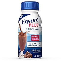 Ensure Plus Nutrition Shake with 13 grams of high-quality protein, Meal Replacement Shakes, Milk Cho