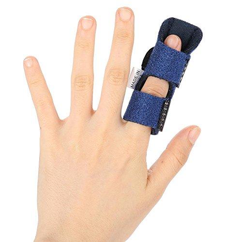 Yotown Férula de Dedo para el Dedo desencadenante, Dedo de mazo, nudillo de Dedo y Corrector de Corrección de Dolor Curvo alisado