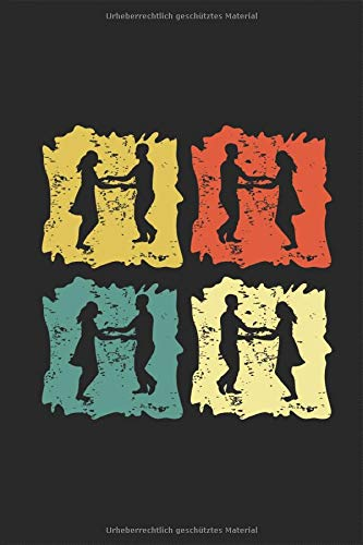 Foxtrott Tanz im Retro Vintage Grunge Style für Tanzpaare Notizbuch: Foxtrott Musik Tanzen Notieren Rechenheft Liniert Journal A5 120 Seiten 6x9 Heft Skizzenbuch Tagebuch Geschenk für Tanzpaare Tänzer