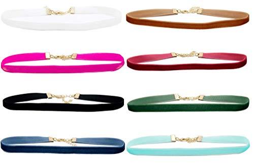 4U Conjunto de Gargantilla de Terciopelo, 12 Piezas Collares, Cadenas, Bisutería para Mujer Niñas, Encanto Elegante y de Moda (12 Colores, 10 mm de Ancho)